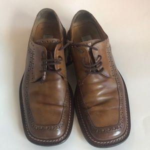 Mezlan men's leather lace up oxfords Sz 10.5